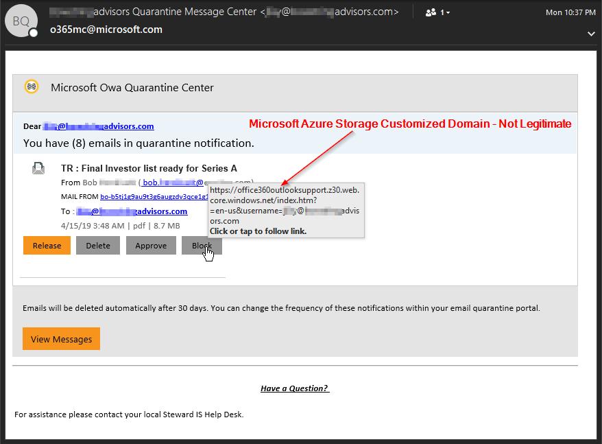 Microsoft Azure Customized Domain Name Phishing Attacks