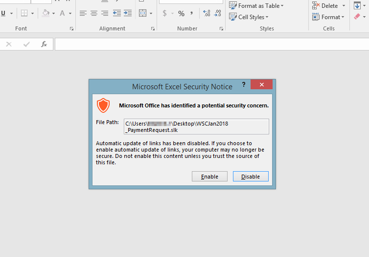 Warning! Trojan Droppers Exploiting Symbolic Link ( SLK) Files