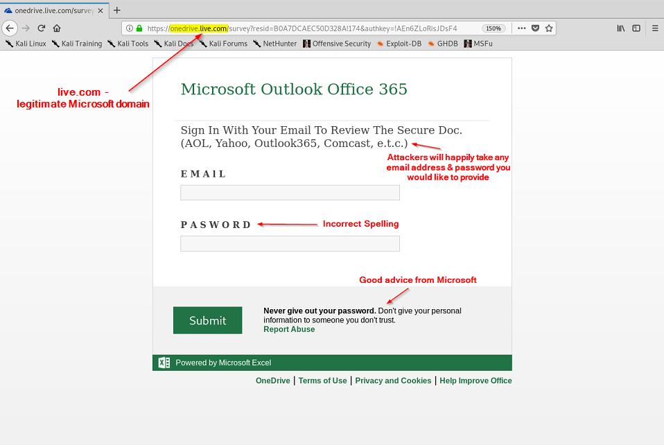 Phishing Attacks Abuse Microsoft Office Surveys