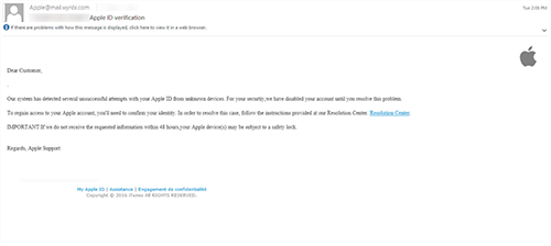 apple email phish