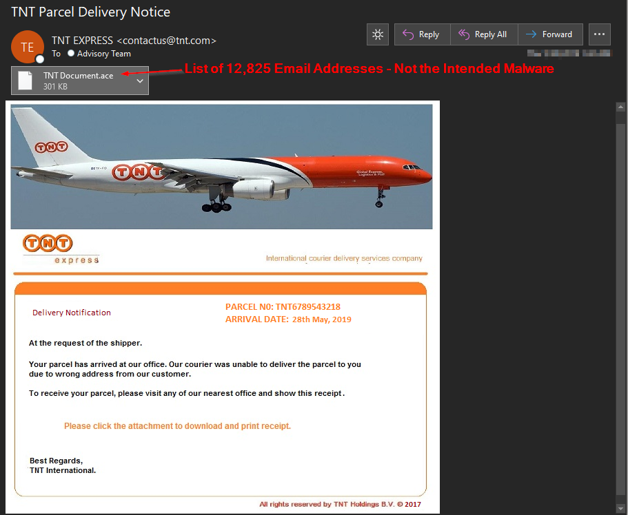 TNT Express Malware Phail