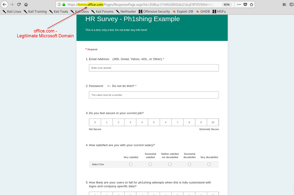 Forms Online Attack - Test Example