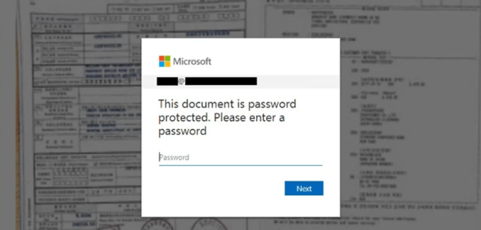 An example of the personalized phishing file. (Source: Bleeping Computer)